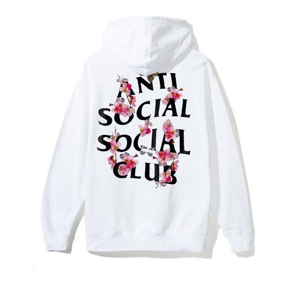 Anti Social Social Club Kkoch White Zip Hoodie 100/% Authentic Brand New