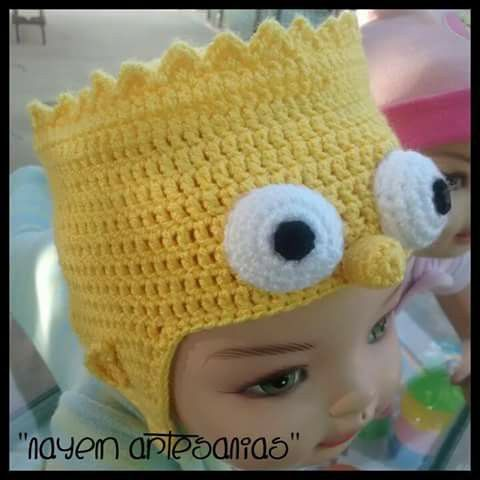 Gorro bart simpsons | Crochet ideas | Pinterest