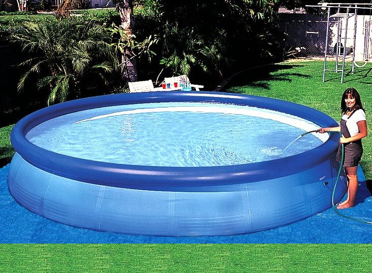 Top Four Above Ground Inflatable Pools Ideas To Make Swimming An Easy Option Pool Design Ideas In 2020 Portable Swimming Pools Inflatable Pool Easy Set Pools