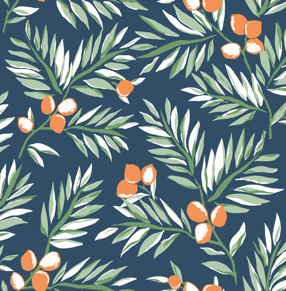 Nextwall Citrus Branch Botanical Peel And Stick Removable Wallpaper Say Decor Llc In 2021 Peel And Stick Wallpaper Wallpaper Wallpaper Warehouse