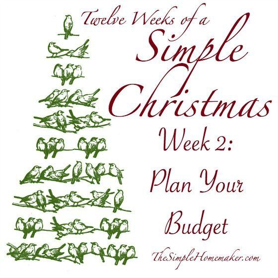 Twelve Weeks of Simple Christmas -- Week 2 Plan Your Budget