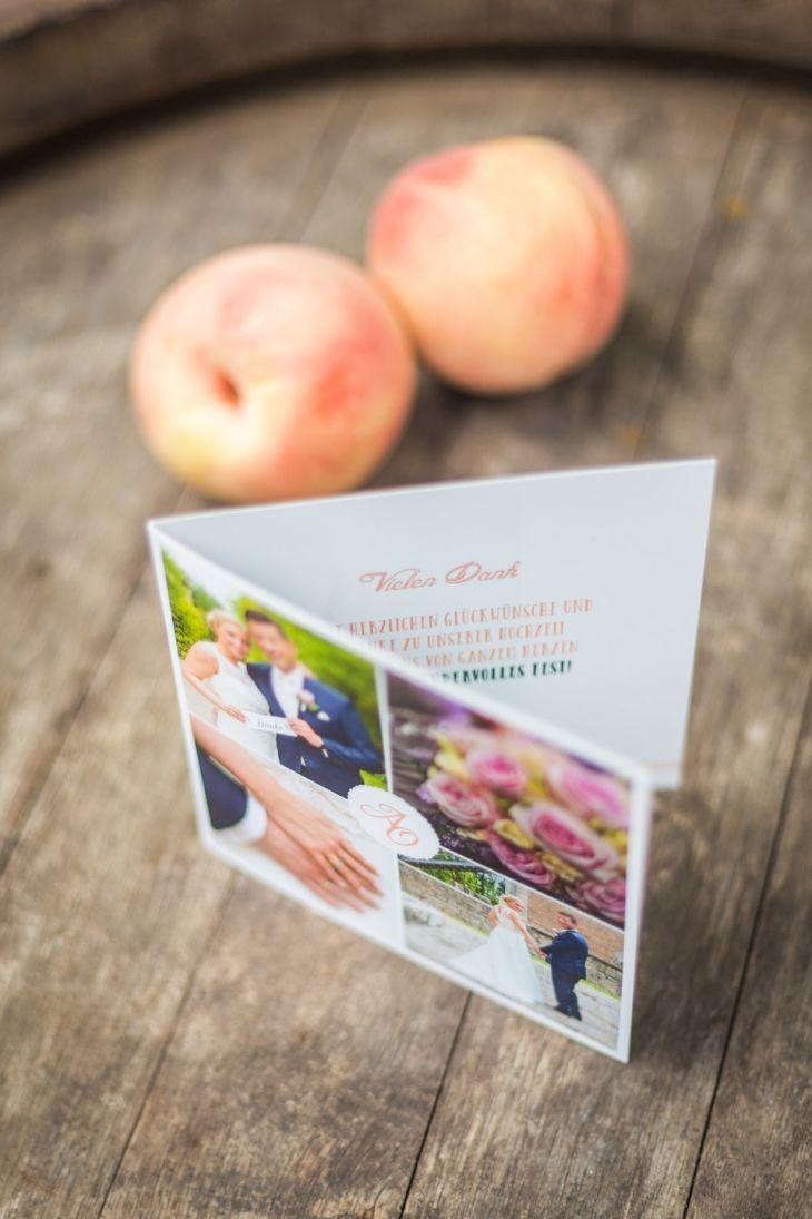 Dankeskarte in Apricot