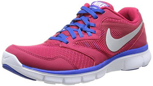 Nike 652858 600 W Flx Experience Rn 3 Msl Damen Sportschuhe - Running Mehrfarbig (Fchs Frc/Mtllc Slvr-Hypr Cblt) 41
