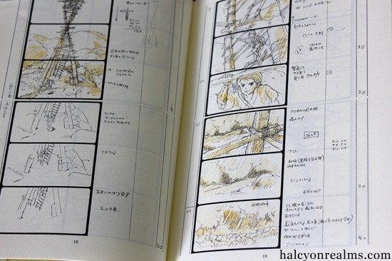 Princess Mononoke - The Storyboard Book - Halcyon Realms - Art - anime storyboard
