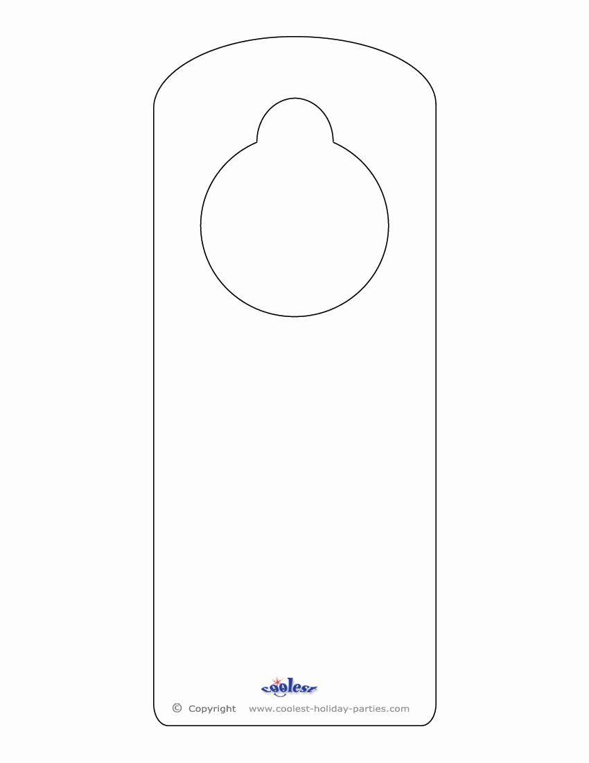 Blank Door Hanger Template For Word Best Of Blank Printable Doorknob Hanger Template Door Hanger Template Doorknob Hangers Door Hangers