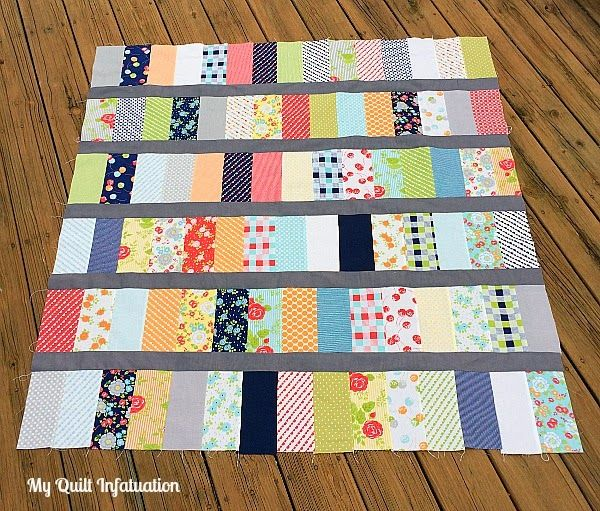 My Quilt Infatuation Happy Go Lucky Baby Quilt Crafts Sewing