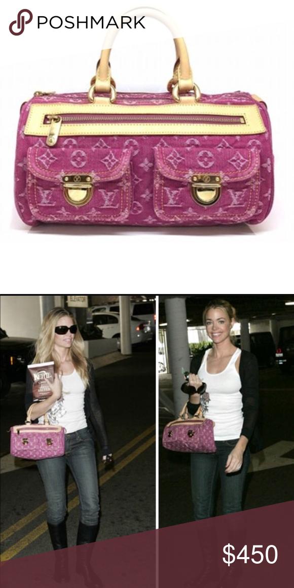 Louis Vuitton Denim Neo Speedy Preowned LV monogram denim neo speedy bag.  No rips or b739ec40d2676
