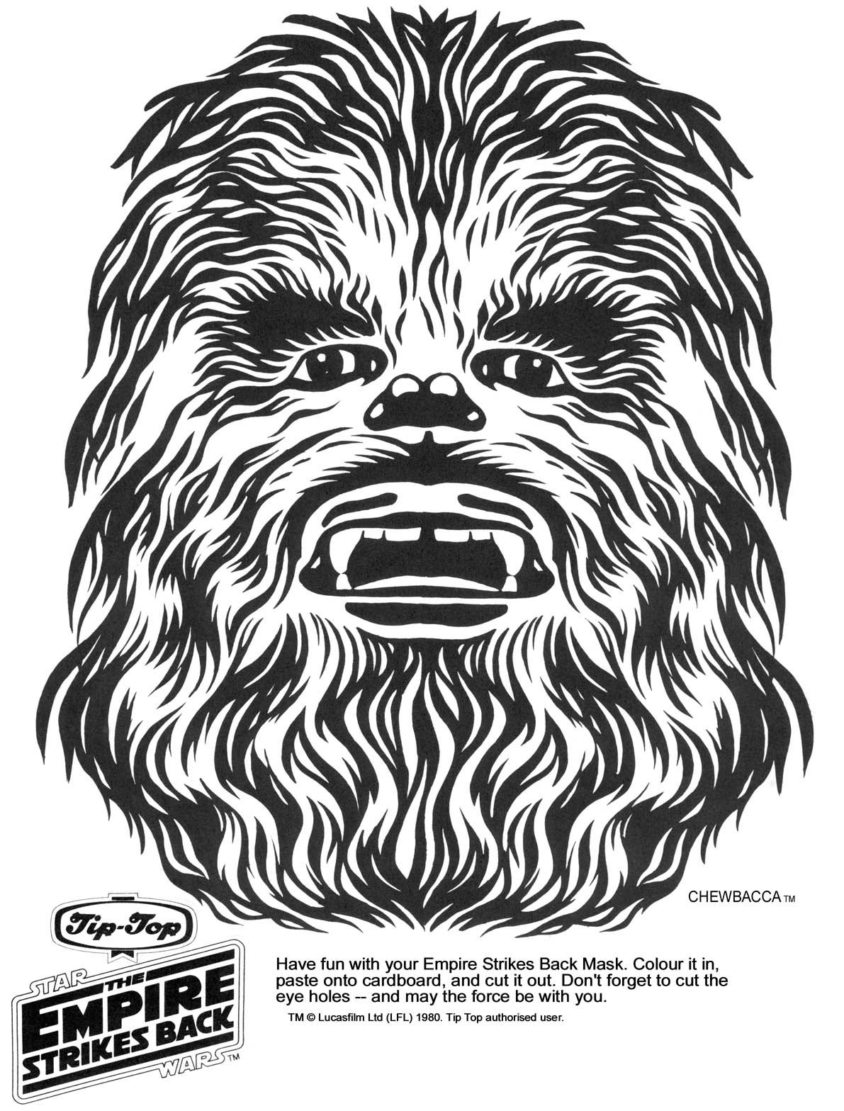 Chewbacca Coloring Page Masks Google Search Star Wars