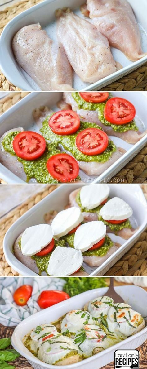 Caprese Chicken- BEST Easy Chicken Dinner Recipe