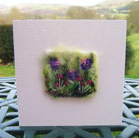 Tilly Tea Dance: Tiny needle-felted collage cards