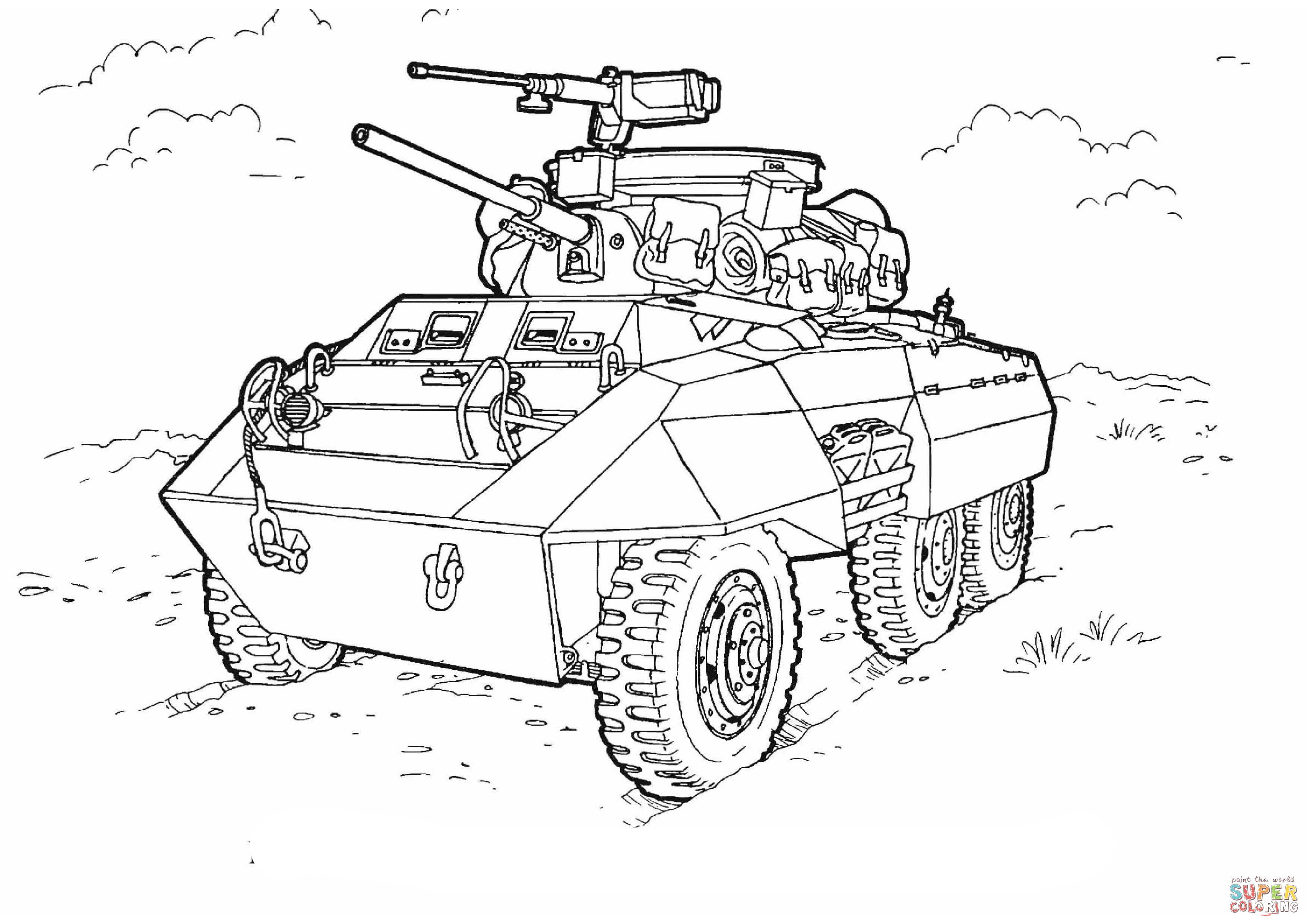 Lujo Tanque De Ejército Para Colorear Páginas Para Imprimir Modelo ...