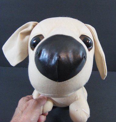 10 Tan Snubbies Dog Big Head Manly Toy Plush Stuffed Animal Toy
