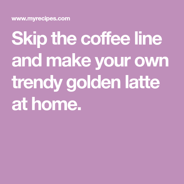 Copycat Starbucks Turmeric Latte