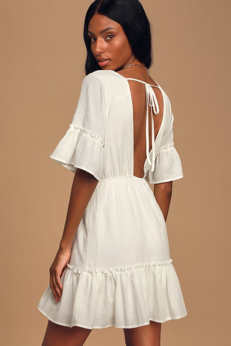 Sunshine Daydream White Short Sleeve Cutout Mini Dress White Short Dress Mini Dress Dresses [ 1125 x 750 Pixel ]