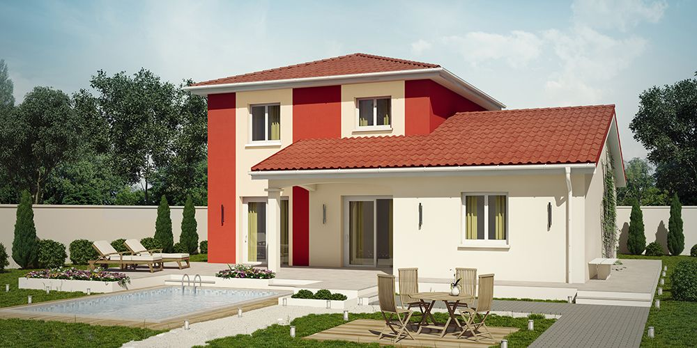 SAONA MODERNE (VERSION 2) #construction #villa #demeure #etage - plan de maison a etage moderne