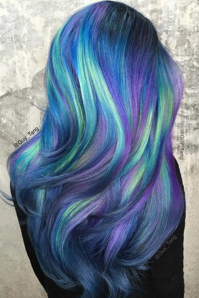 Pretty Color To Dye Your Hair: 24 Fairy Blue Ombre Hair For Beautiful Girls