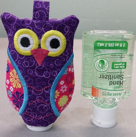 Owl Hand Sanitizer Holder Sanitizer Disppenser By Countryclubgifts