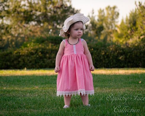 Trendy, modern and boutique style PDF patterns. Baby Bella's Top, Dress and Maxi Sizes NB to 24m