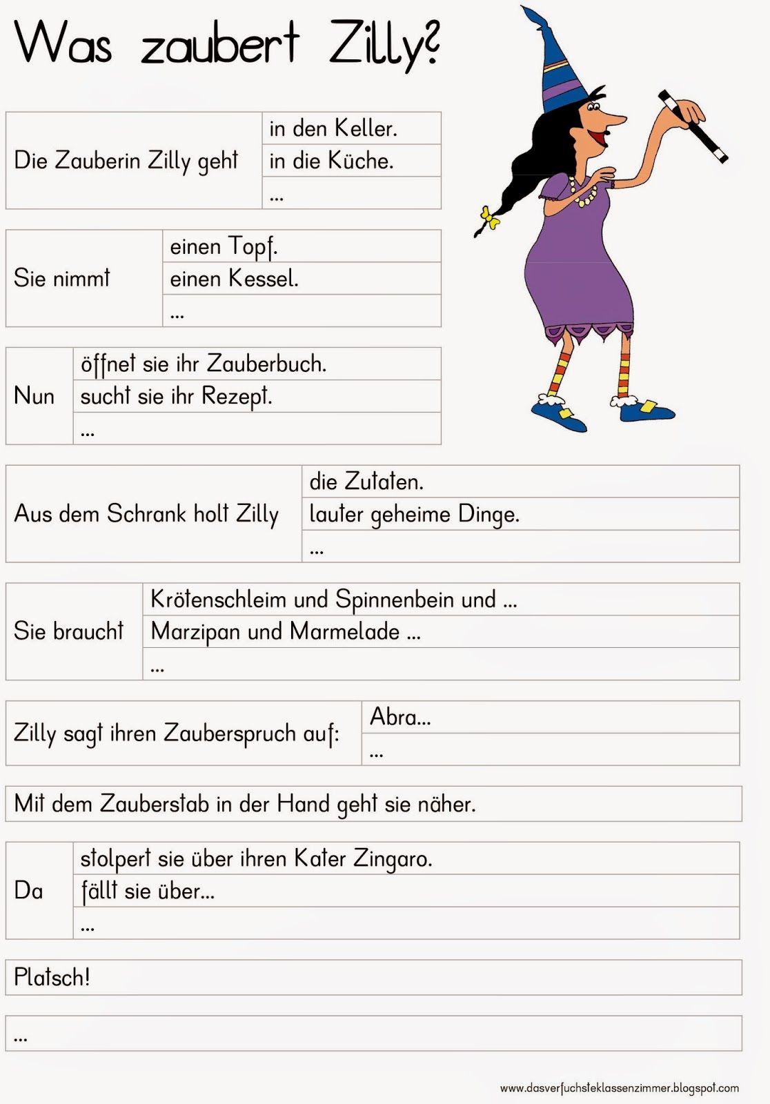 Das verfuchste Klassenzimmer - Geschichte über die Hexe Zilly ...