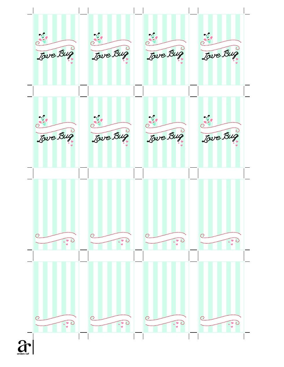Free Printable Love Bug Label For Hand Sanitizer Bottles Label
