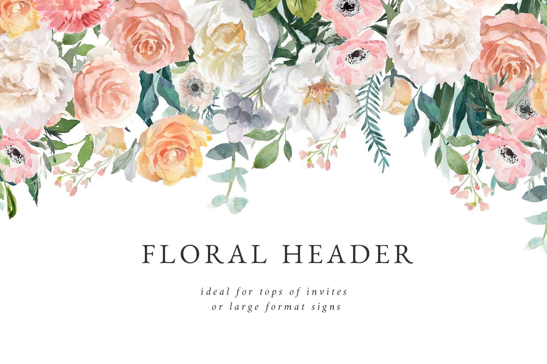 Flower Watercolor Clipart Dusk Watercolor Flowers Clip Art