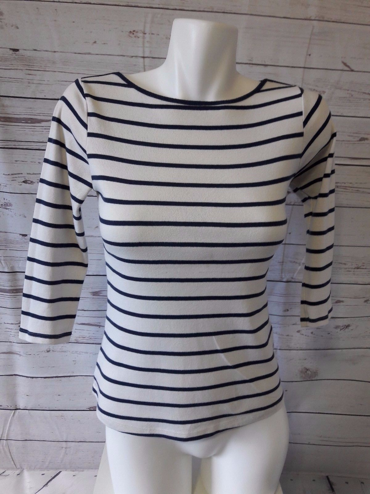 d58f870cbf 10.55   Zara W&B Collection Thin Knit Sweater Top Shirt White with Blue  Striped SMALL ❤ #collection #sweater #striped #Leggings #Runway #tshirt  #cool #Punk ...
