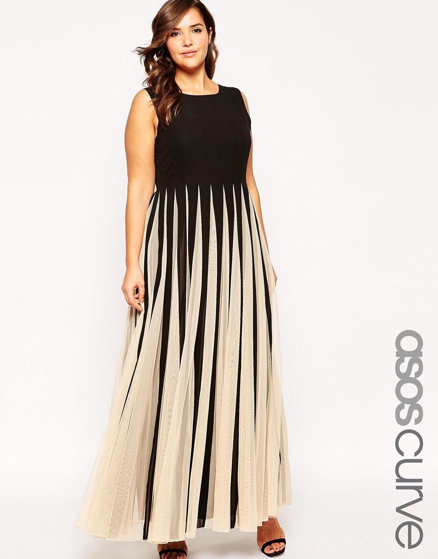 Asos curve maxi dress in stripe mesh dress to impress pinterest