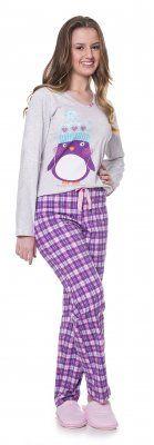 2686de1516 Pijama Meia Malha Juvenil Pinguim