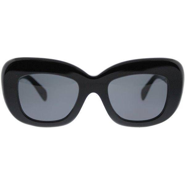 c84ffca5469 Celine CL 41432 807 Black Cat-Eye Plastic Sunglasses (€250) ❤ liked ...