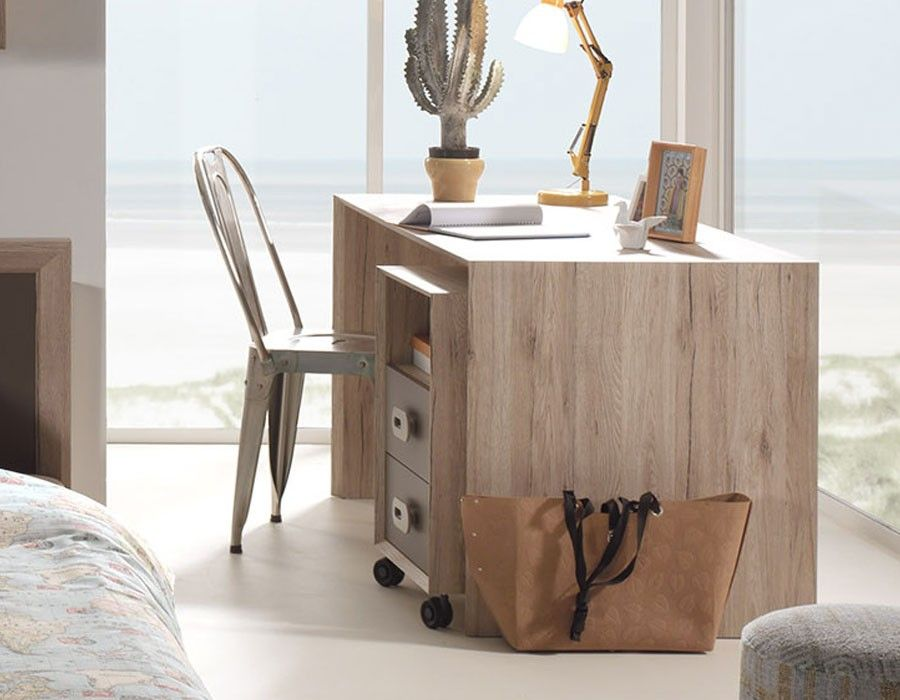 Bureau moderne couleur bois marron nolwen bureau