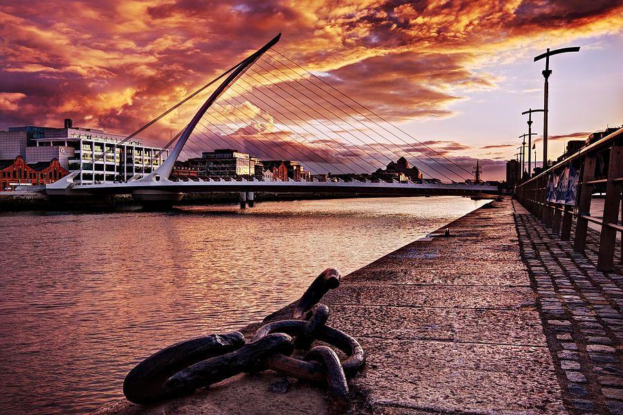 Samuel Beckett Bridge At Dusk – Dublin by Barry O Carroll