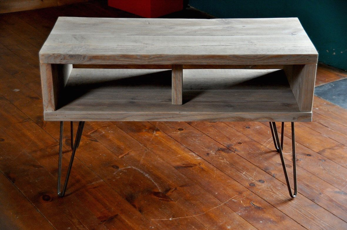 Best Reclaimed Tv Stand Industrial Custom Hairpin Legs Rustic 400 x 300