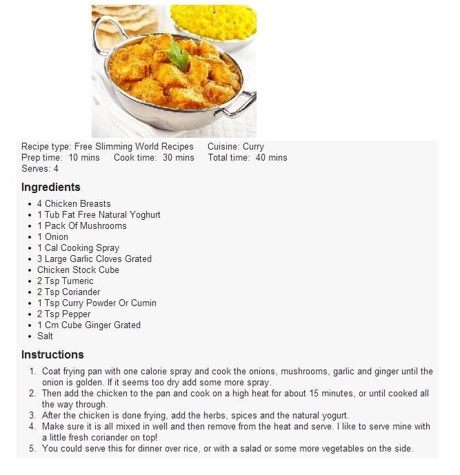 Slimming world chicken korma food pinterest korma slimming world chicken korma forumfinder Gallery