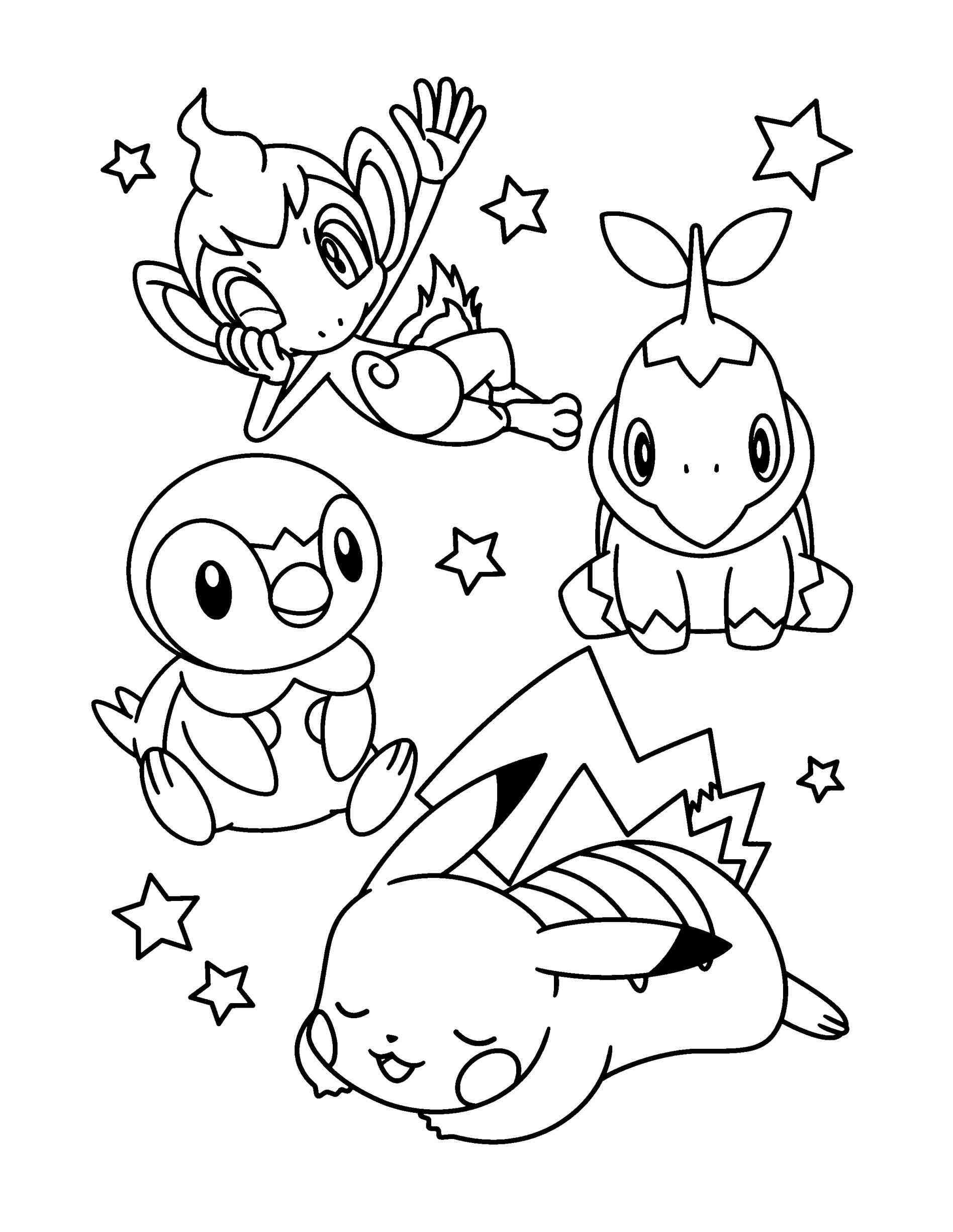Pokemon Coloring Pages Pikachu And Friends Anime Pictures