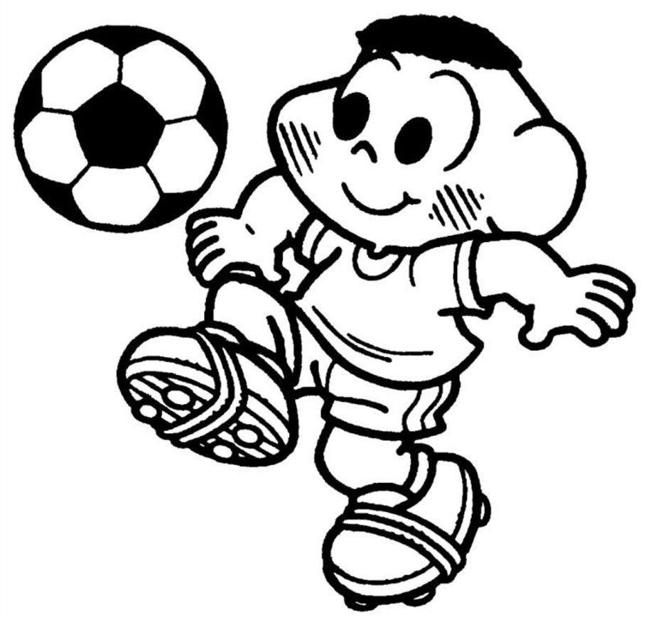 Cascao Jogando Bola Com Imagens Desenhos Desenho Futebol