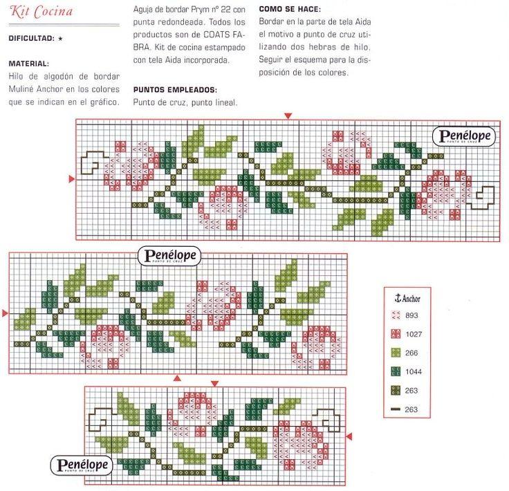 Point De Croix Bordure Fleur Roses Point De Croix Rose