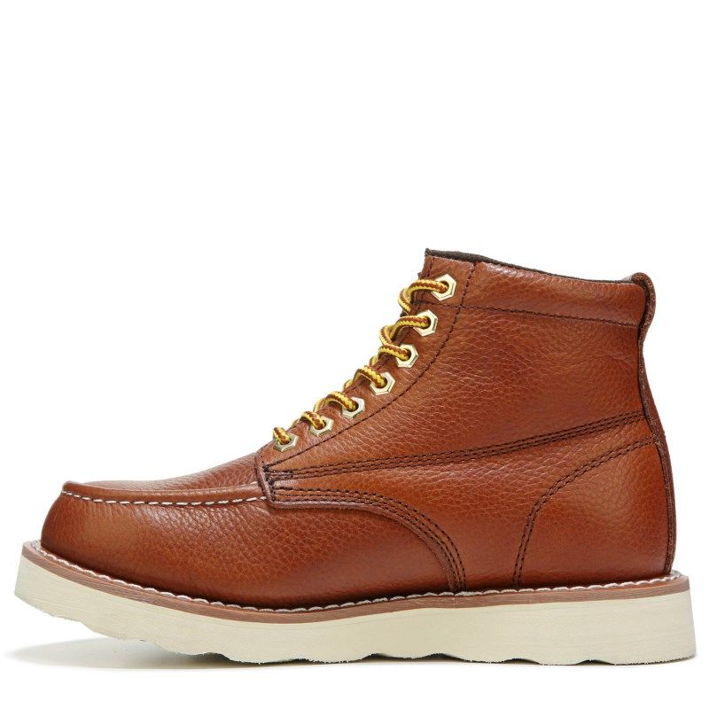 c60e01a028b0 Skechers Work Men s Pettus Relaxed Fit Good Year Welt Work Boots (Red  Brown) - 14.0 M