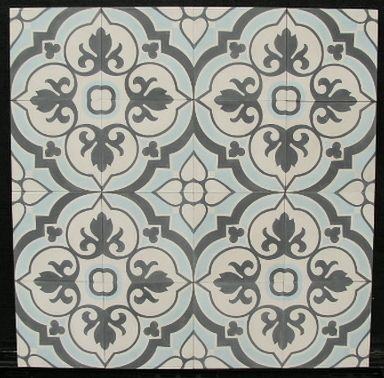 FLOWERZ 4 Blue Version portugese tegels,cementtegels collectie FLOORZ.nl Encaustic cement tiles 20x20 cm