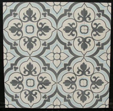 FLOWERZ 4 Blue Version portugese tegels,cementtegels collectie FLOORZ.nl Encaustic cement tiles 20x20 cm