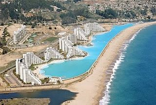 Largest Pool In Chile >> World S Longest Pool At The Beach In San Alfonso Del Mar Resort At