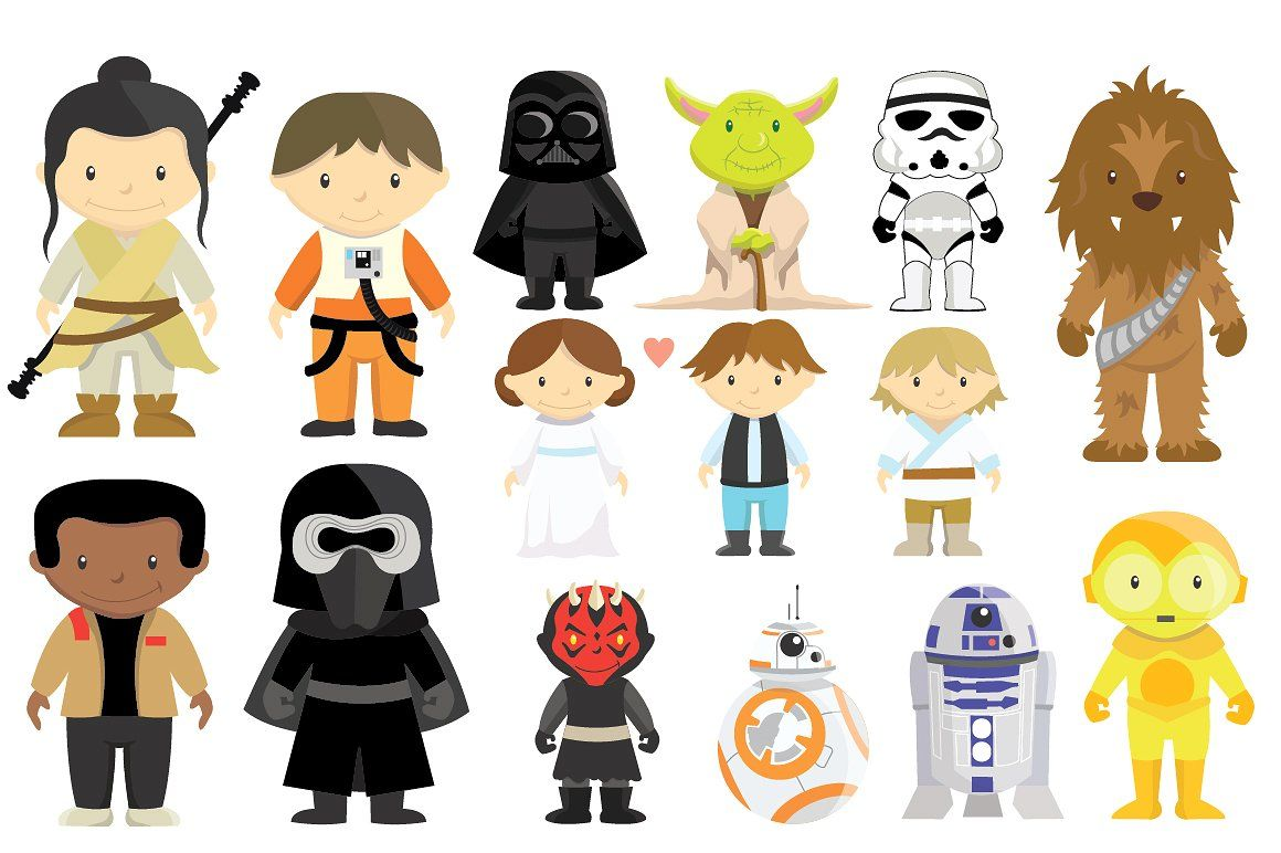 New Star Wars clipart and vector set perfect for your