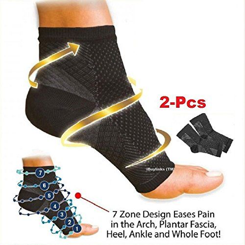 1Pair Ankle Support Compression Sleeves Unisex Plantar Fasciitis Foot Socks Relieve Swelling  Foot Pain  LXL * Want to know more, click on the image.Note:It is affiliate link to Amazon.