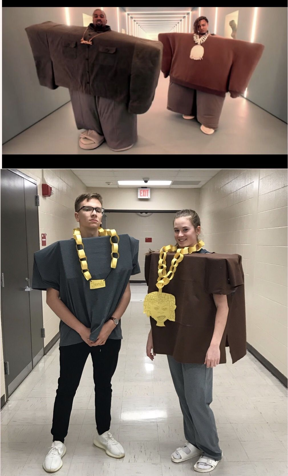 Meme day, Kanye \u201cI love it\u201d meme costume Spirit week