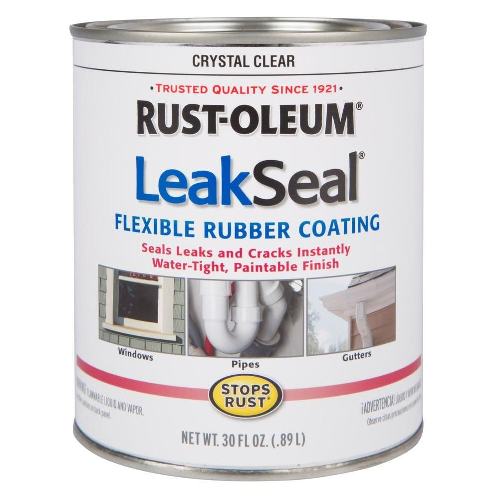 Rust Oleum Stops Rust 30 Oz Leakseal Clear Flexible Rubber Coating Sealer 2 Pack 275116 The Home Depot Seal Leaks Rubber Sealant Rustoleum