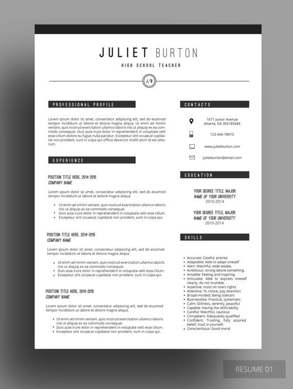 resume  resume template  professional resume template  cv