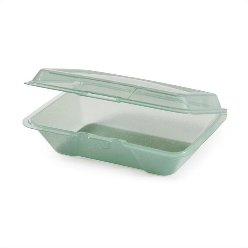 Eco Takeouts 9 Inch X 6 5 Inch Half Size Food Container 2 5 Deep Jade Polycarbonate Case Of 12 Food Containers Take Out Containers Black Restaurant