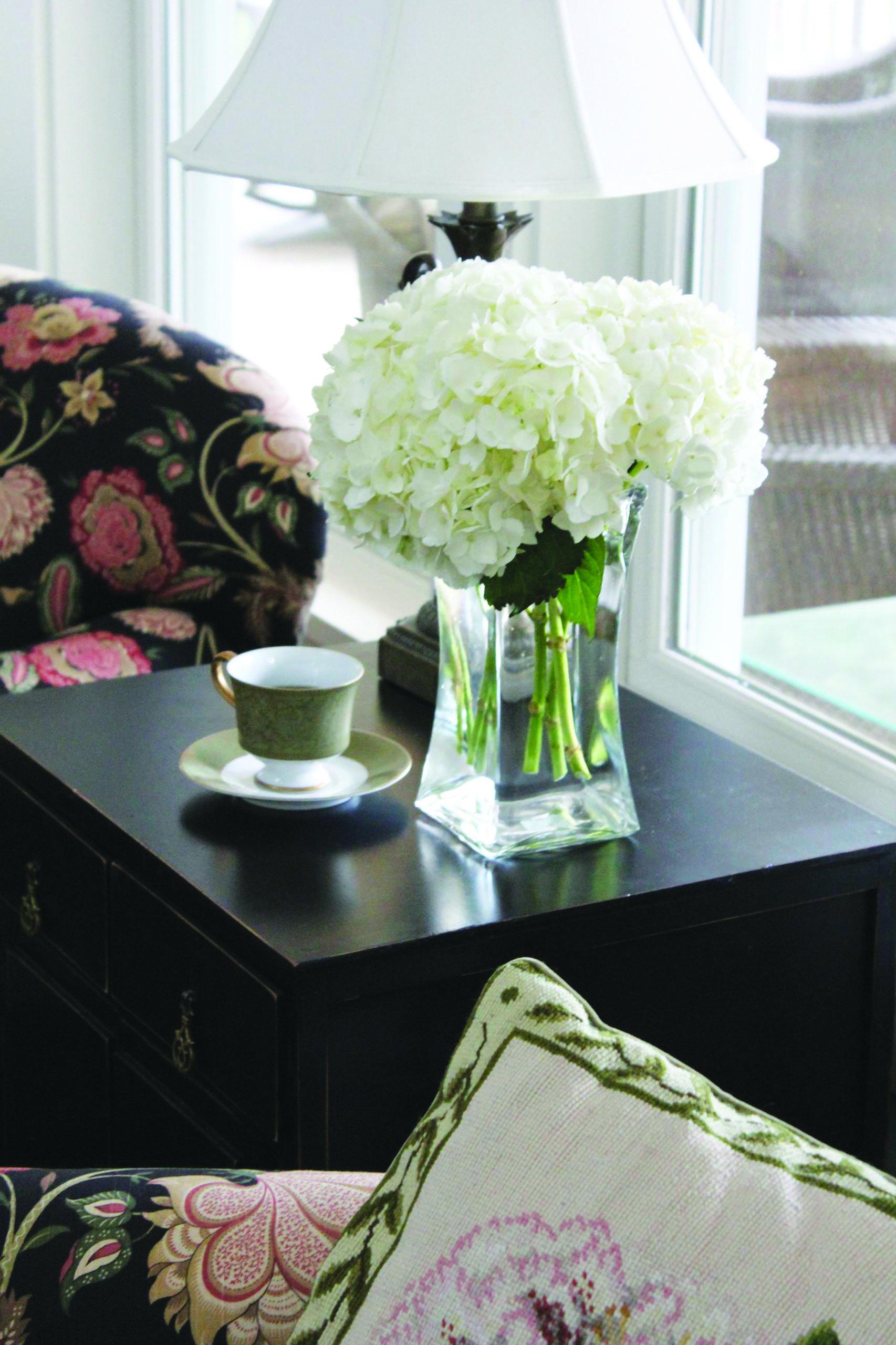 25 Hydrangea Flower Pot and Planter Arrangements (PHOTOS ... |Country Hydrangeas Vase