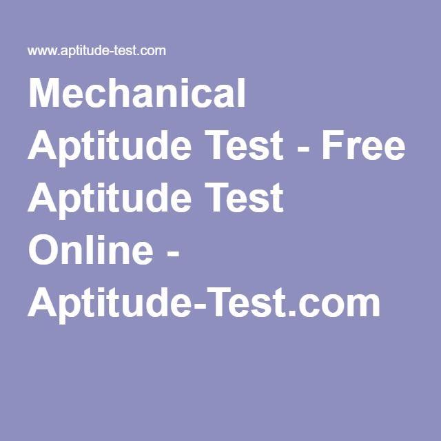 Mechanical Aptitude Test - Free Aptitude Test Online