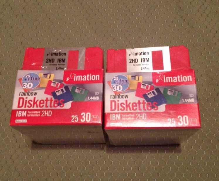"""Imation 2HD Discs 3-1/2"""" 1.44MB each Lot of 60 Rainbow NEW/Sealed #Imation"""