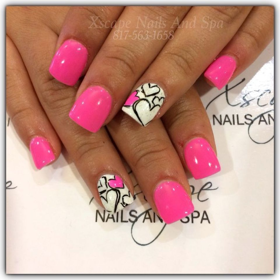 62 Lovely Valentine Nail Design Ideas | Lovers and Couples